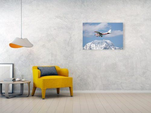 light aircraft at ljubljanas joze pucnik airport in brnik - acrylic print example