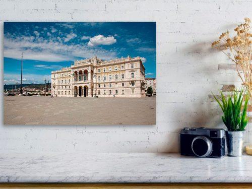 Piazza Unita in Trieste, Italy - acrylic print example.